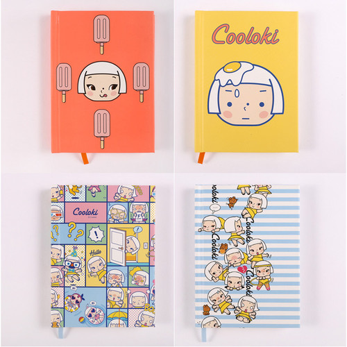 Cute girl hardcover lined notebook