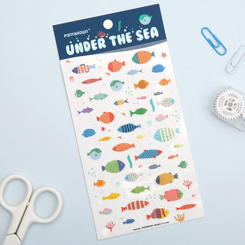 Under the sea deco sticker