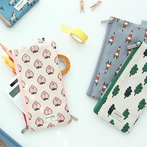 Jam Jam pattern zipper pouch