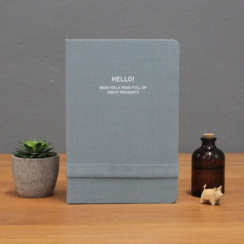 2017 Hello gentle breeze blue gray undated diary