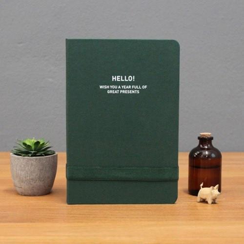 2017 Hello gentle breeze deep green undated diary