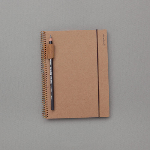 Jstory Slow and simple wirebound monthly undated planner notebook