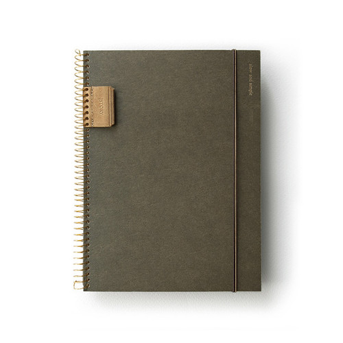 Slow and simple wirebound daily undated scheduler notebook