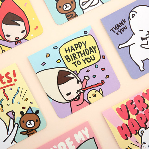 Cartoon message card