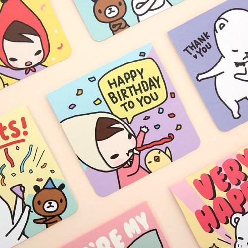 Cartoon message card