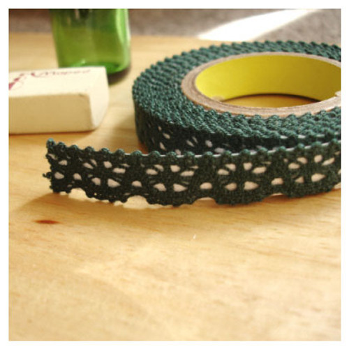 Deco fabric lace tape - khaki