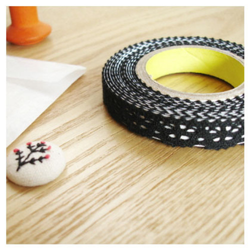 Deco fabric lace tape - black