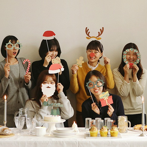 Dailylike Christmas photo stick props set