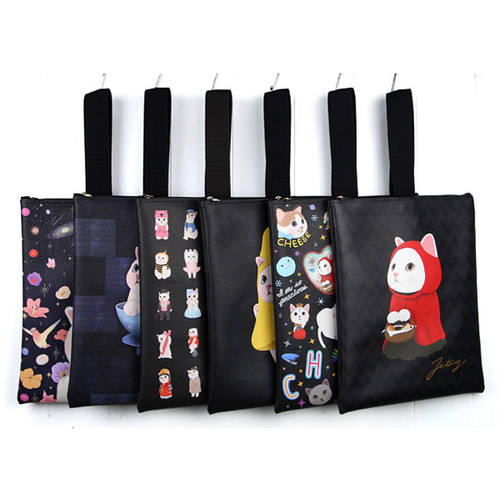 Choo Choo cat cori zipper tote bag