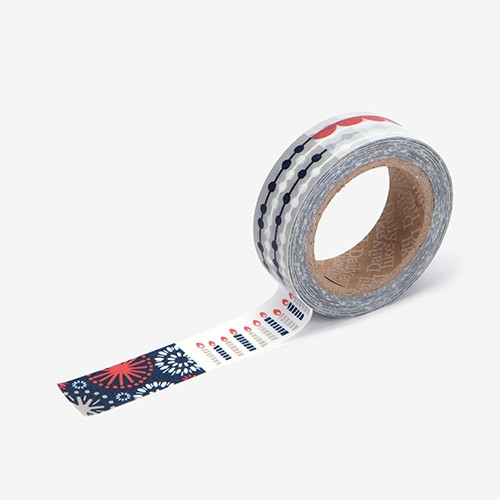 """Deco 0.59""""X11yd masking tape single - Party"""