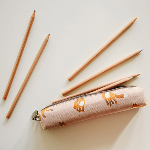 For your heart slim zipper pencil case