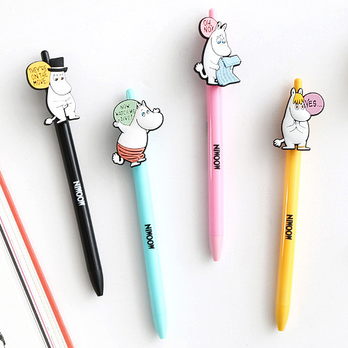 Moomin color gel pen 0.4mm
