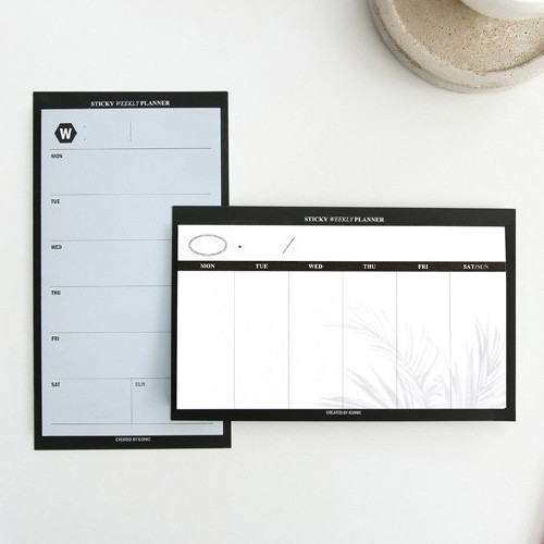 Simple sticky weekly planner