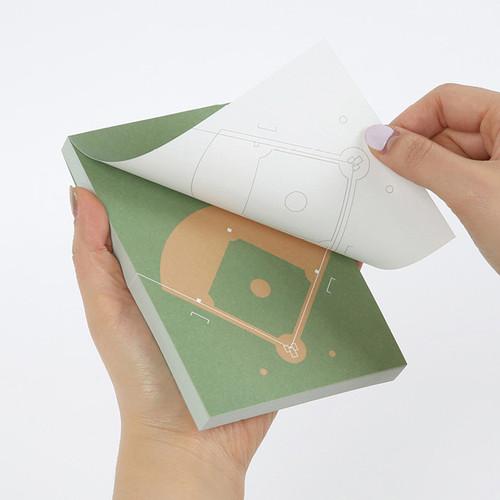 Sports memo pad - Baseball