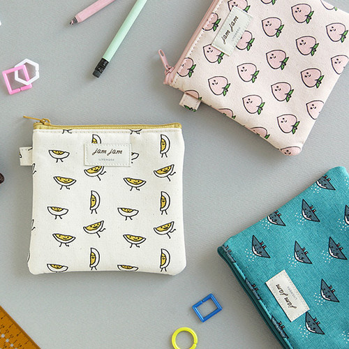 Jam Jam cute illustration pattern small zipper pouch