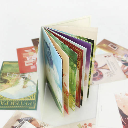 Classic fairy tale story illustration postcard book