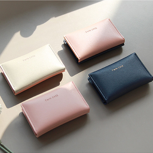 Multi purpose twin pocket card case