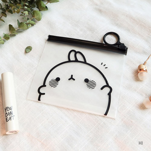 Hi - Molang zip lock small pouch ver.2