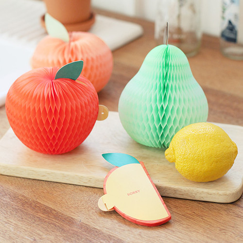 Fresh fruits shape card