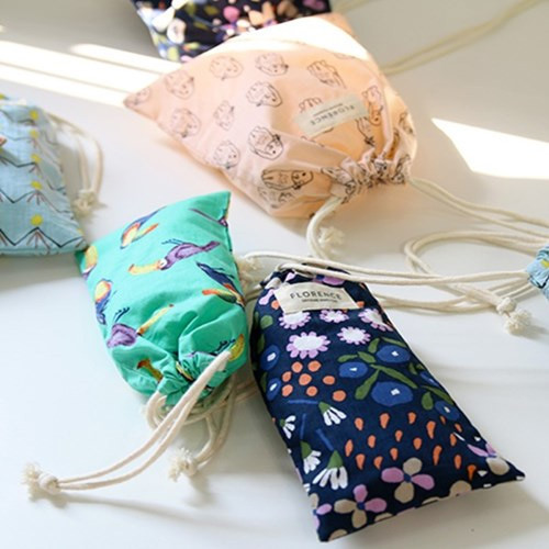 Florence pattern small drawstring pouch