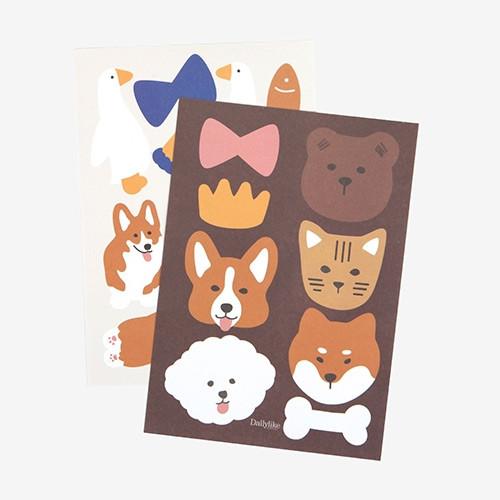 Animal point paper sticker set