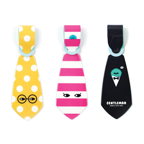 Everymonster Tie travel luggage name tag