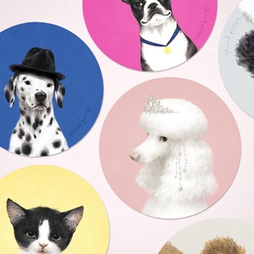 Vivid illustration circle deco sticker