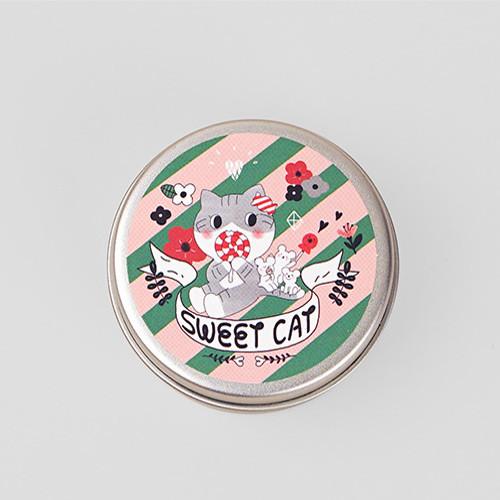 Salmon circle sticker set with tin case