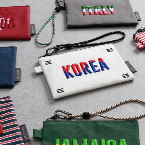 National medium pouch with detachable strap