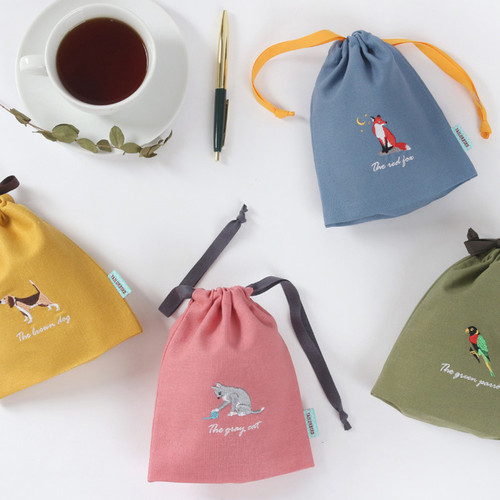 Tailorbird animal small drawstring pouch