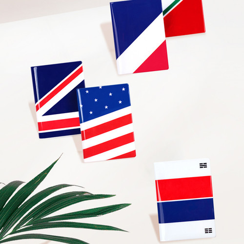 Flag RFID blocking passport case