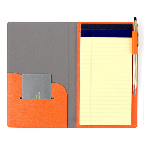 Orange - Premium business notepad holder
