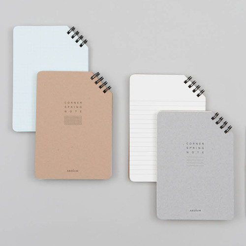 Corner medium spiral lined/grid notebook