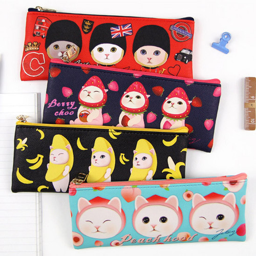 Choo Choo slim zipper pencil case