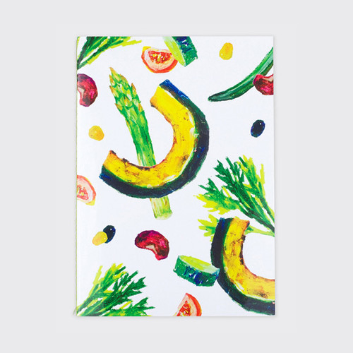 Salad sewn bound A5 green lined notebook