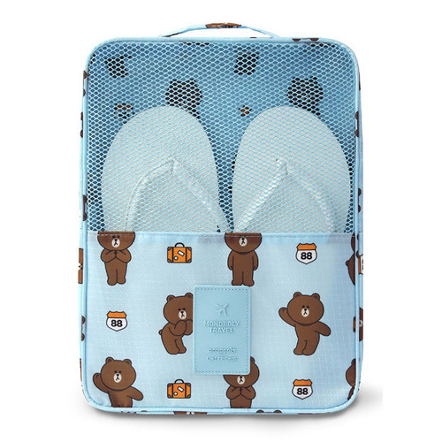Line friends travel shoes mesh pocket pouch ver.2 h