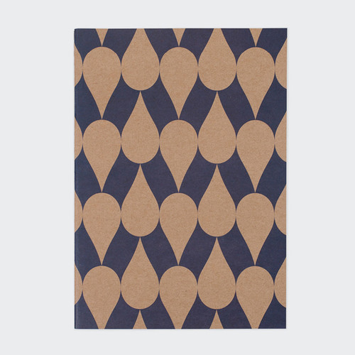 Vintage pattern sewn bound A5 plain notebook A