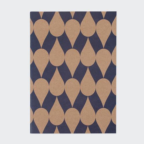 Vintage pattern sewn bound A5 plain notebook A