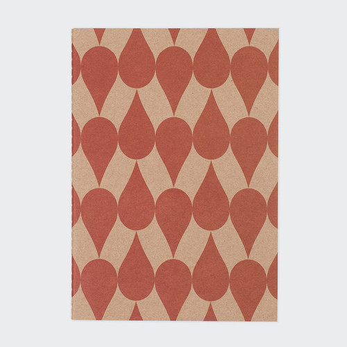 Vintage pattern sewn bound A5 plain notebook B