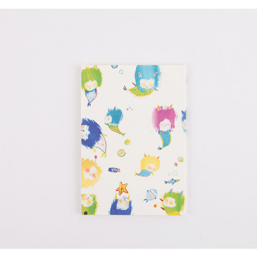 Little Mermaid illustration small grid notebook