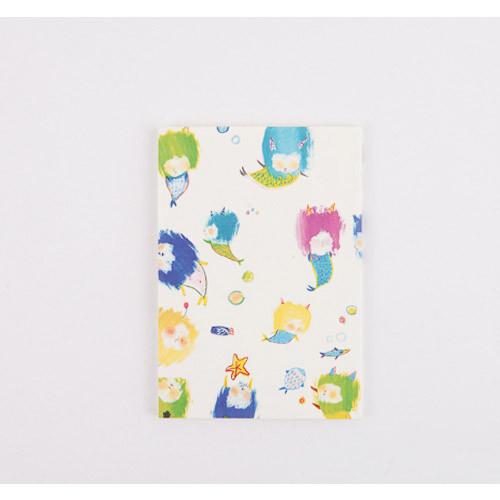 Little Mermaid illustration small grid notebook