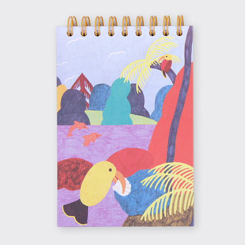 Bird Kiss spiral drawing notebook