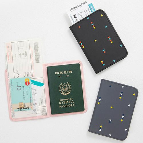 Weekade pattern travel passport holder case