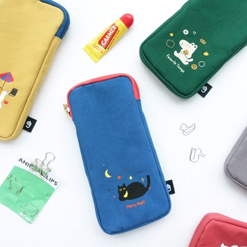 Hey buddy soft flat pencil case