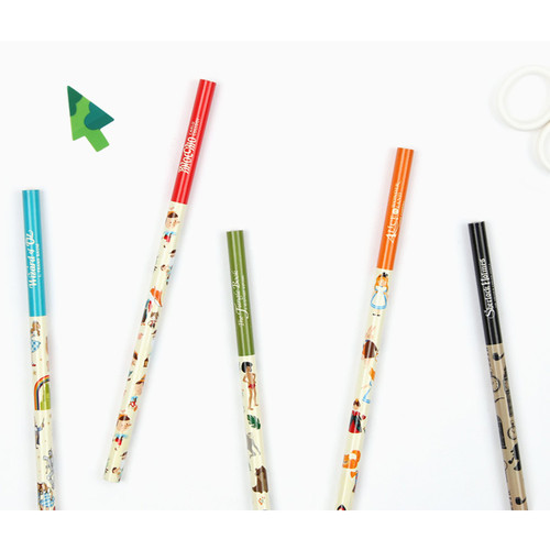 World literature black pencil - B - Set of 5
