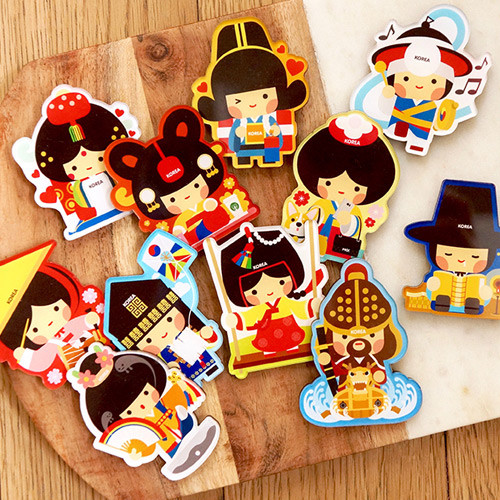 Korean traditional character magnet ver.2