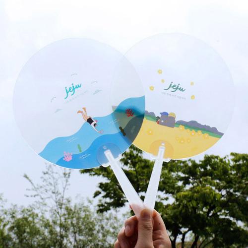 Jeju island round hand fan