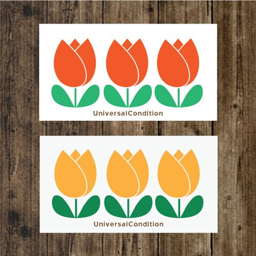 Tulip pattern small memo card