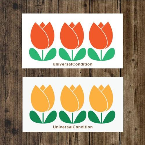 Tulip pattern small memo card