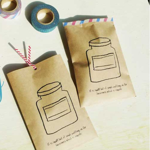 Bottle postcard envelope set